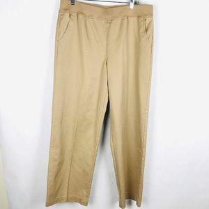 Orvis Pull On Elastic Waist Khaki Pants